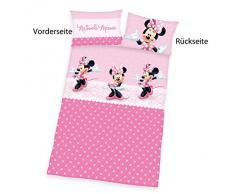 Herding 2478029063412 Minnie Mouse Disney Brave ropa de cama, funda de almohada, 40 x 60 cm y funda de edredón, 100 x 135 cm, diseño de