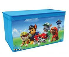 Fun House 712540 Pat vigilancia-Baúl para juguetes plegable, poliéster, azul, 55,5 x 34,5 x 34 cm