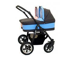Carro gemelar 2en1. Capazos + sillas + accesorios. Desde nacimiento hasta los 3 años. Freestyle BBtwin duo cochecito doble (rosa + azul)