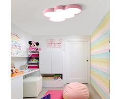 LED Dormitorio Lámpara de techo infantil Modern creativos Nubes Diseño Lámpara Multicolor lámpara de techo Ultraslim iluminación interior lámpara Habitación de los Niños iluminación de techo Leuchten directamente Blanco