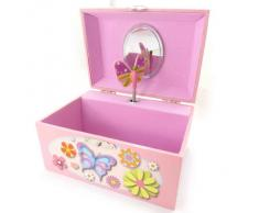 Joyero 'Papillons Imaginaires' rosa música.