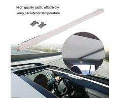 Techo solar Sombrilla, tragaluz del coche Aislamiento térmico Disipación de las cortinas Sun Shade para Sharan 2009-2017,Tiguan 2009-2017, Q5 2009-2017.(Beige)