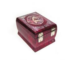 Madre de Pearl Oriental estilo de papel lacado madera, diseño de pájaros de la música joyero joyero Cofre del Tesoro Caja de Regalo Organizador con Diseño de Grullas