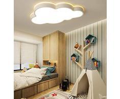 Lámpara Dormitorio Luz Techo LED Regulable Habitación Niños Luces Con Control Remoto Moderna Creativas Nube Forma Decorativas Iluminación Salón Lámparas Metal Acrílico L 50 Cm × W 35 Cm 31W Blanco