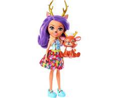 Enchantimals-FXM75 Danessa Deer y Sprint, muñeca con mascota, multicolor, 75 (Mattel FXM75)