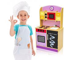 TecTake Cocina de madera de juguete para niños juguete juego de rol toy púrpura