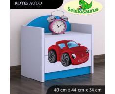 Noche Mesa para niños – de coche rojo, varios colores azul azul