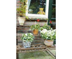 Esschert Design - Estante esquinero para flores (hierro fundido), color rojizo, BPH33