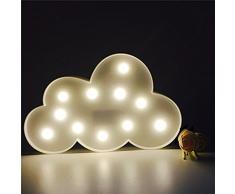jysport LED Unicornio Noche luces habitación de los Niños Luz de ambiente Unicorn lámpara luz nocturna Baby \ Children 's Room Decoración, Clouds white
