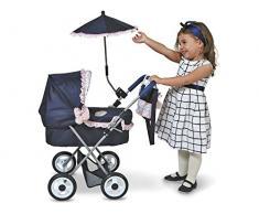 Decuevas Toys - Muñeca Classic Romantic, coche plegable, con bolso y sombrilla, 38x60x65 cm