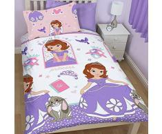 Disney Princesa - Princesita Sofía - Ropa de cama Juego de cama reversible 74x48 cm 135x200 cm