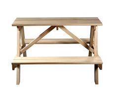 SixBros. Mesa para niños de picnic conjunto de muebles para jardín de madera mesa/banco pino - PTS-186-1/1158