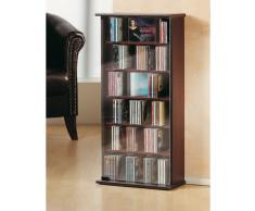 VCM 25201 Vetro - Estantería para CD y DVD (hasta 150 CD), color negro