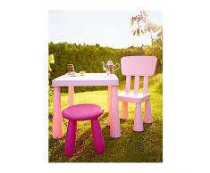 IKEA MAMMUT - Mesa para niños, luz rosa £ 22 - 77x55 cm
