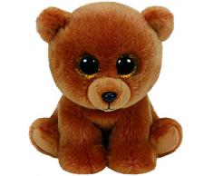 Ty Classics Brownie, oso pardo de peluche, 23 cm, color marrón (90222TY)