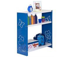 Estantería Metálica infantil, Kit Habitat Toy Mini 3/300 azul/blanco, 900x600x300, 3 estantes, Simonrack