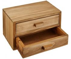 Rangement & Cie RAN7004 - Cajonera (madera de pino, 2 cajones), diseño vintage
