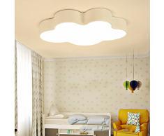 Lámpara de techo las luces de la habitación de los niños nubes lámpara de techo minimalista moderno creativo LED dormitorio salón comedor lámparas Control remoto 63*38*8cm