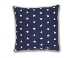 Cojín con relleno con cojín decorativo 40 cm x 40 cm diseño de estrellas colour azul