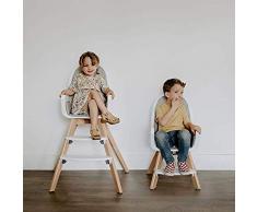 Babify Nordic Trona de Bebes 2 en 1. Convertible en Sillita. Doble Bandeja Extraible. Asiento de Foam.