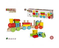 Tren de madera con bloques encajables