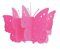 Naeve Leuchten – Lámpara de techo, Plástico, 40 W, E27, 46 x 46 x 21,5 cm, color rosa 6070019