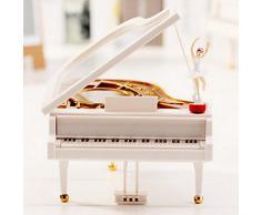 Dehang - Caja de música mecánica para bebés - Diseño de Piano con bailarina - Juguete con sonido instrumento musical para bebés niños niñas