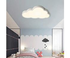 FCX-LIGHT Plafón Infantil LED Luz de Techo de Nubes de LED,luz de Techo de vivero,lámpara de la habitación de los niños niña de Dibujos Animados,White,36W19.6 * 11in