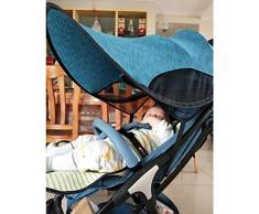 kingpo Sombrilla Carrito Bebe -Parasol Cochecito Bebe Universal-Toldo Carrito – protección Solar para Cochecito – con Accesorios para Carro Tira de Alambre de Acero Engrosado