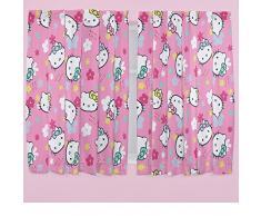 66 x 137 cm de cortinas para niños Hello Kitty Ditsy Floral, color rosa
