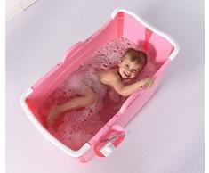 Bañera inflable, niño plegable Bañera engrosamiento sin cubierta Piscina para niños ( Color : Pink )