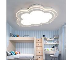 Damjic Los Niños Led Lámpara De Techo Lámpara De Techo Simplificado Nube Creativa Moderna Habitación Cálida Cartoon Lámpara De Techo,55*35Cm- Luz Blanca