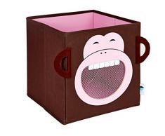 Store.IT 752026 - Caja para guardar juguetes (con ventanilla, diseño de mono