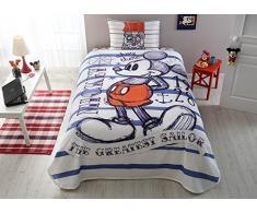 Disney Mickey Mouse único/doble 100% algodón ropa de cama colcha/edredón de Set 3 pcs