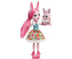 Enchantimals Bree Bunny Echantimals Muñeca Brie, Color Rosa, 17 cm (Mattel Spain DVH88)