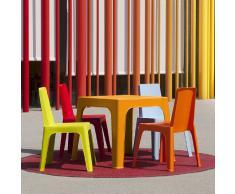 Mesa infantil para niños JULIETA para uso interior y jardín Color = NARANJA Julieta 1032