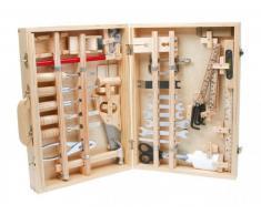 small foot company Legler Deluxe - Juego de herramientas de juguete (a partir de 8 años, madera y metal)