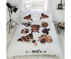 ES una vida de perro único cama de matrimonio juego de funda de edredón y funda de almohada infantil, diseño de animales de diseño nuevo