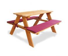 Habau 645 - Banco de picnic con los niños cojín tapizado, marrón