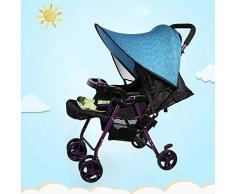Cochecito de bebé Cochecito Sombrilla Universal Buggy Coche infantil Asiento de coche Toldo Flexible Lycra Cubierta de bloqueo solar(Azul)