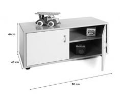 Mobeduc 600102HPS10 - Mueble infantil superbajo/armario con 2 estantes, madera, color haya y rojo cereza, 90 x 40 x 44 cm