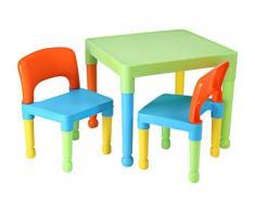 Libertad de Juguetes de los niños Mesa y 2 sillas Juego, plástico, Multi-Color