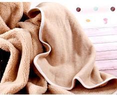 Cuna Manta de 100% Pura Lana Merina Manta 120 x 150 cm Cálido y Natural Certificada por Woolmark. Muy Suave y Confortable. Manta Sofa bebé Manta 100% DE Lana Merino