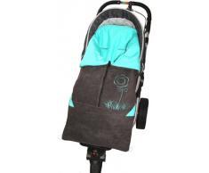 ByBUM - Saco abrigo, Saquito l 2 en 1 primavera, verano, otoño, para el asiento del bebé; Universal para coches, asiento de coche, por ejemplo, Maxi-Cosi, de cochecito o silla de paseo; ANTRACITA/AQUA