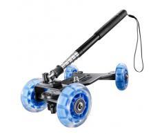 Walimex Pro Basic - Set de dolly para videocámara (incluye carrito para cámara con mango telescópico y rótula para desplazamientos de cámara)