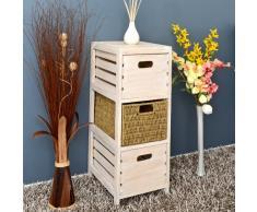 ts-ideen - Cajonera para baño (3 cajones), diseño vintage, color marrón