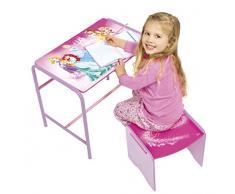 Princesas Disney 472DPN - Juego de escritorio y taburete infantil, color rosa