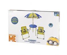 ColorBaby - Set de mesa, sillas y sombrilla, diseño minions (76576)