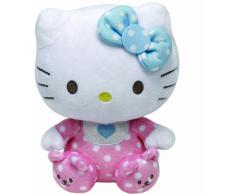 Hello Kitty - Peluche baby con sonajero, 15 cm, color rosa (TY 41023TY)