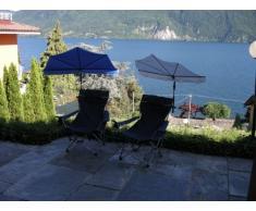 Nuevo - 2 piezas STRAND-SET - Holly STABIELO sunny de playa y tiempo libre - 1 x fácil de alta protección UV sombrilla EINDREHBARER - colour rojo + 120 kg ligera comfort con silla con respaldo plegable - colour azul oscuro con